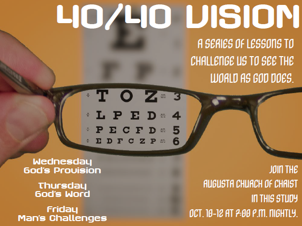 Special Evening Series on 40/40 Vision